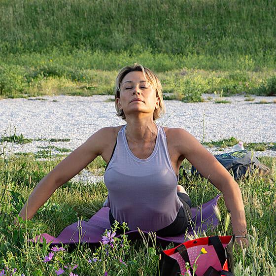Sophie, notre prof de Yoga à Rome