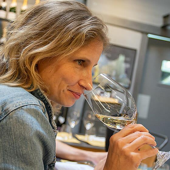 Examen olfactif du vin