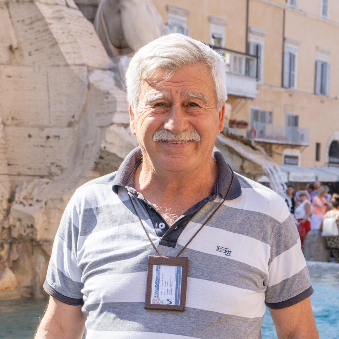 Silverio, notre guide officiel à Rome pour les visites en vélo, Segway, etc.
