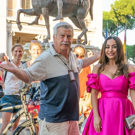 convivialité, au cœur d'un shooting de mariage à Rome