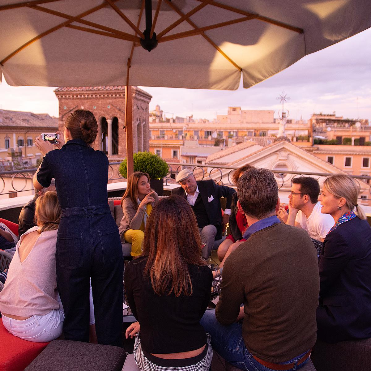 Apéritif sur les toits de Rome