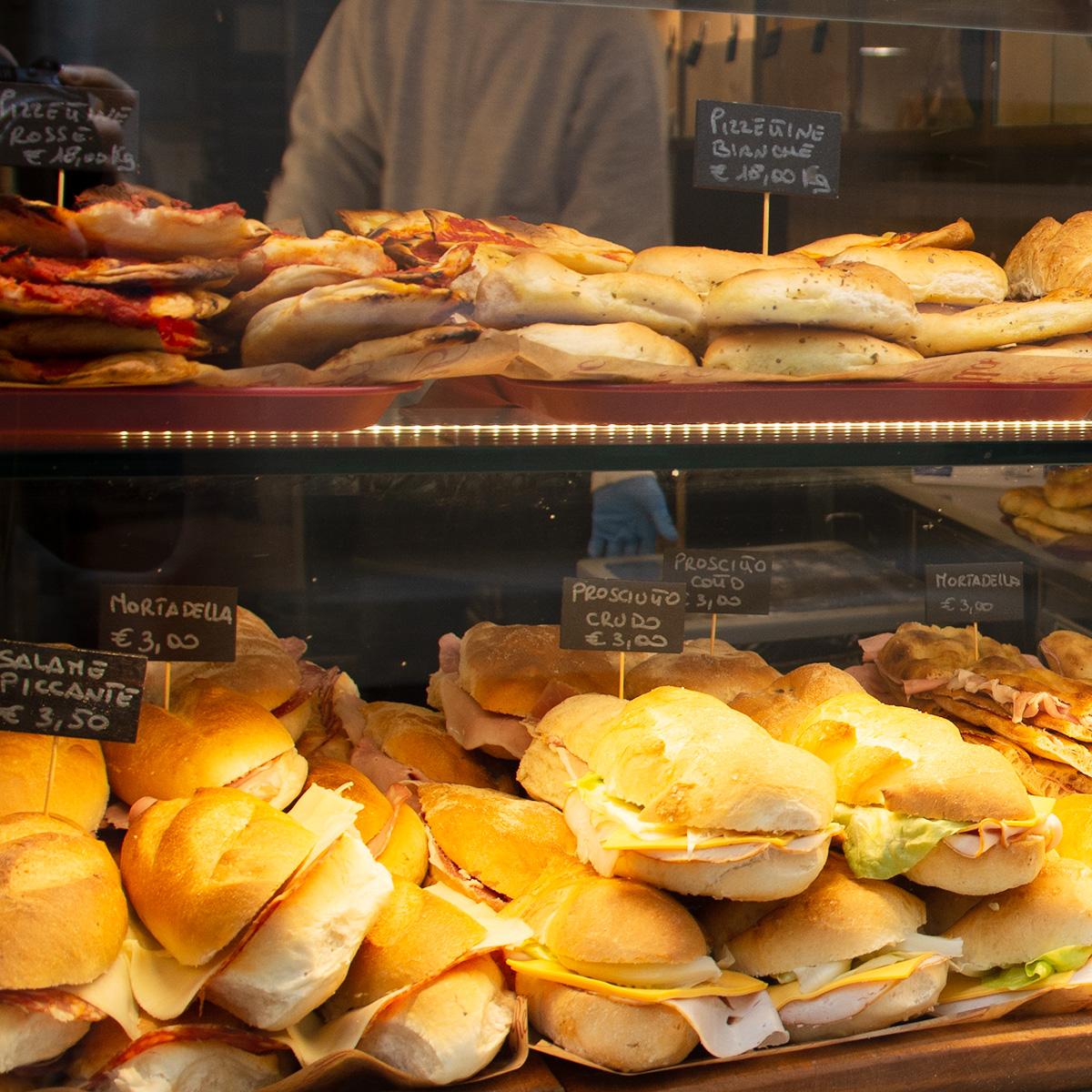 week-end à Rome : un grand choix de paninis
