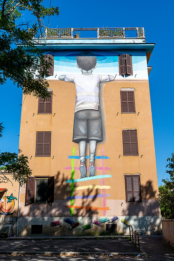 Street Art à Rome : SETH (FR) - L'ENFANT RACHETEUR