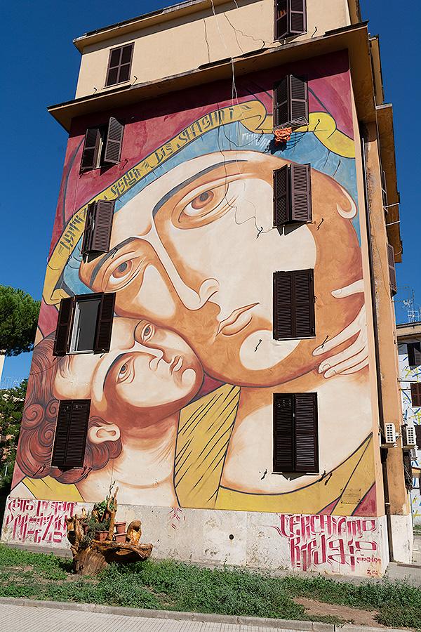 Street Art à Rome : M. KLEVRA (IT) - NOTRE DAME DE SHANGHAI