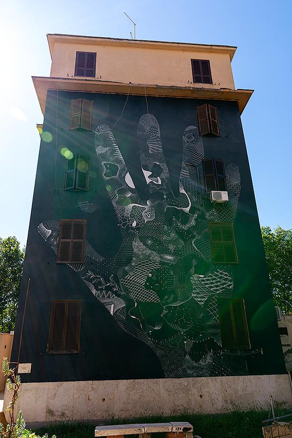 Street Art à Rome : PHILIPPE BAUDELOCQUE (FR) - ELIZABETH