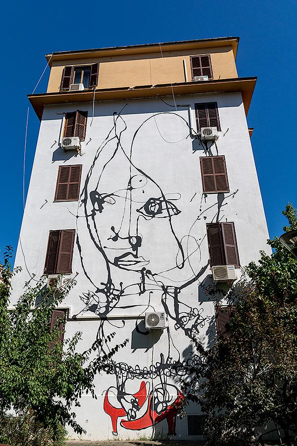 Street Art à Rome : DANILO BUCCHI (IT) - Solo