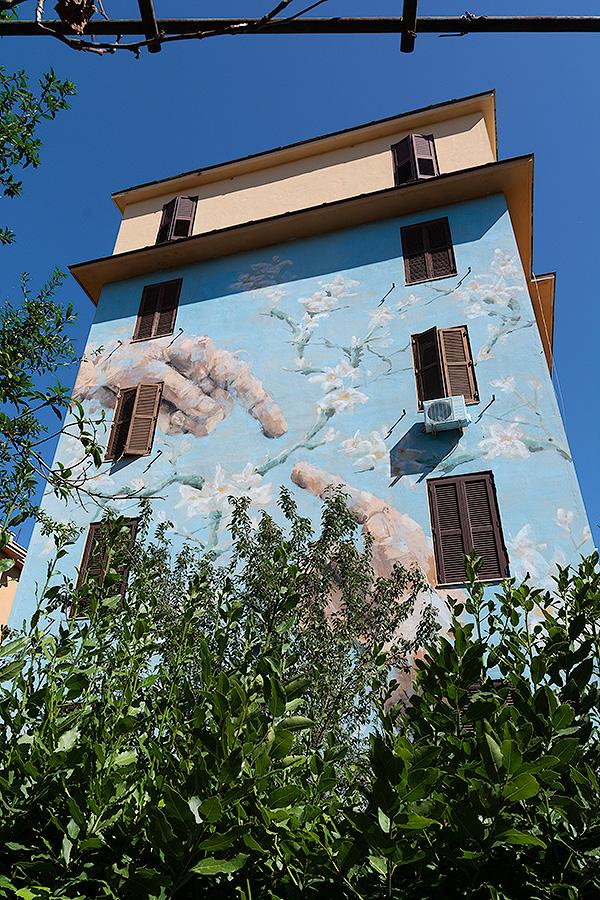 Street Art à Rome : JERICO (PHI) - DISTANCE NATURE HOMME