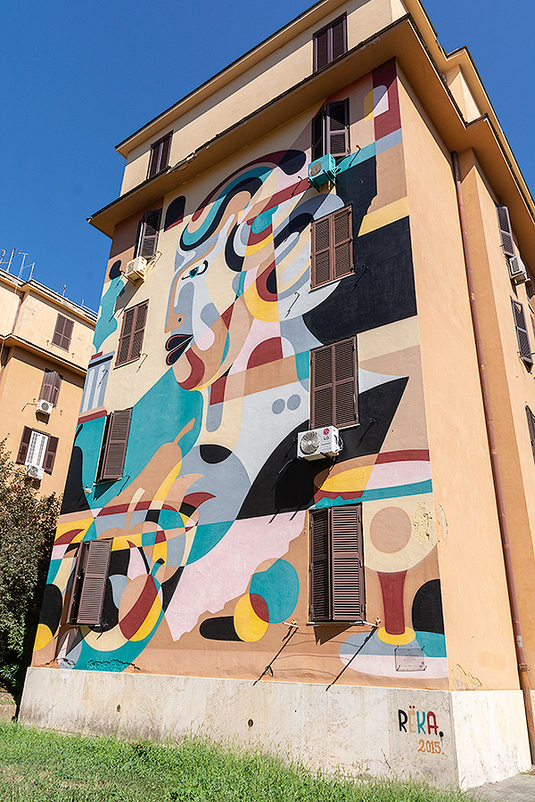 Street Art à Rome : REKA (AUS) - TOUJOURS LA VIE