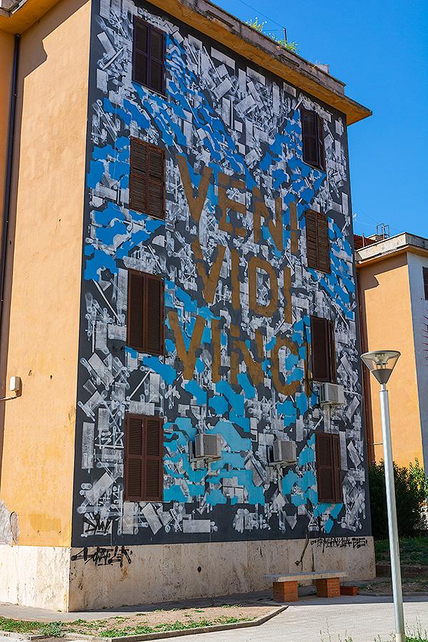 Street Art à Rome : LEK & SOWAT (FR-USA) - VENI VIDI VINCI