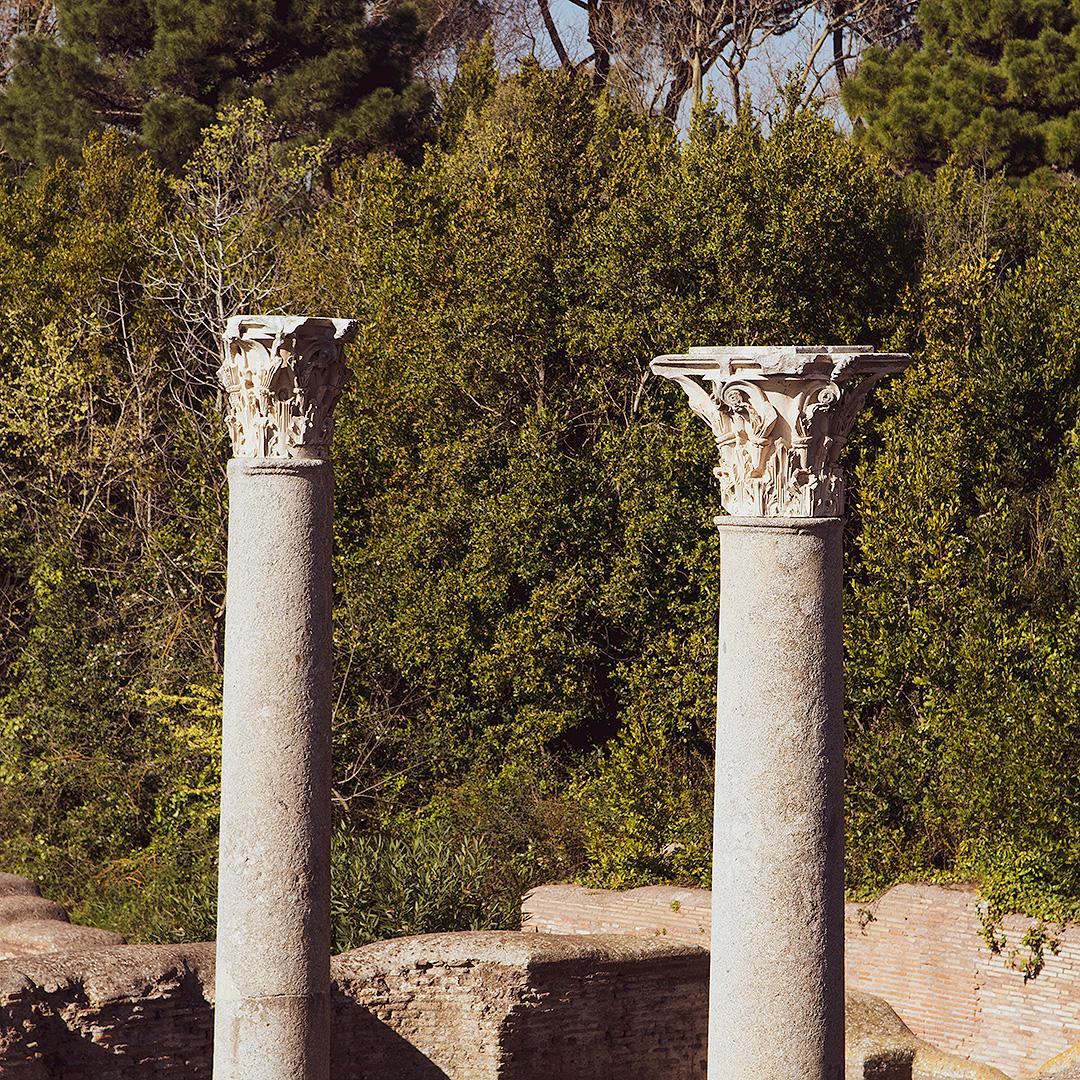 Magnifiques colonnes à Ostia