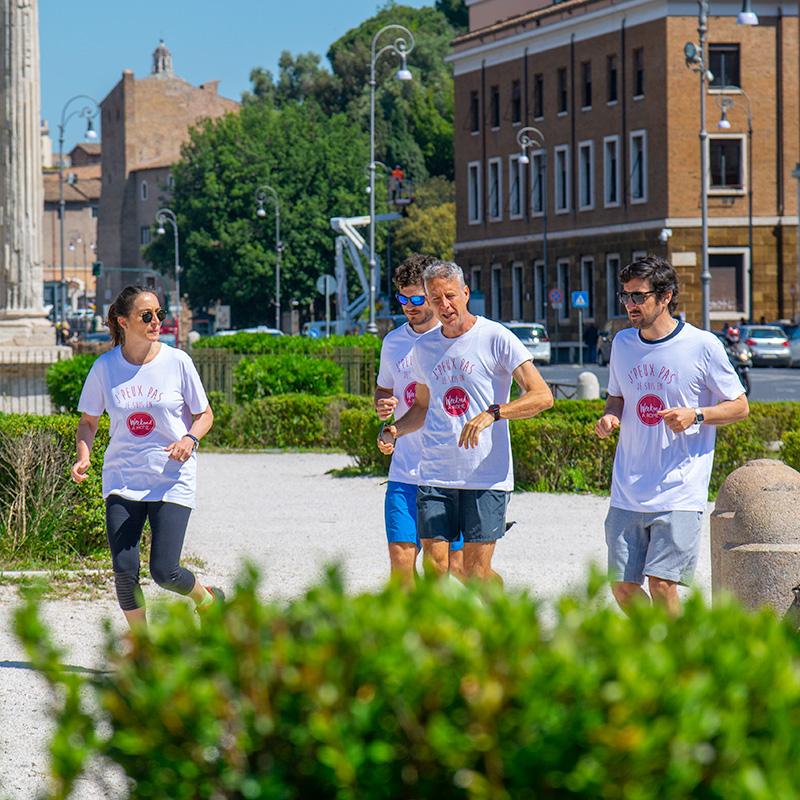 Découvrir la ville de Rome en footing léger