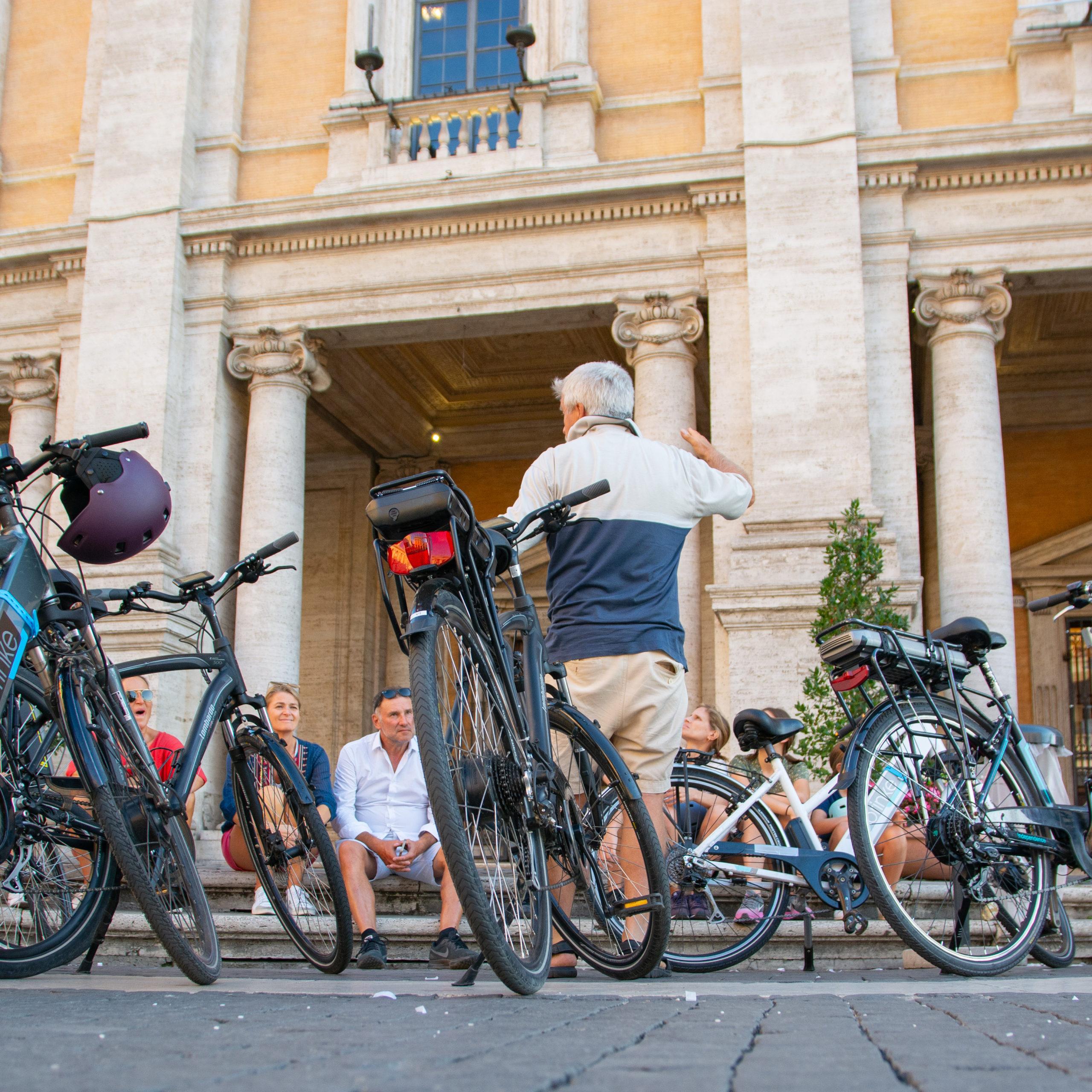 Tour en vélo et découverte de l'histoire de Rome