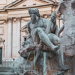 Découverte des fontaines de la Piazza Navona